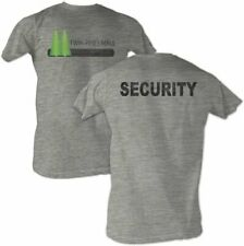 Adult Heather Gray Movie Back to the Future Twin Pines Mall Security T-shirt Tee