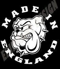 Made In England T-Shirt Bulldog Design Proud To Be English Free UK Postage 80's