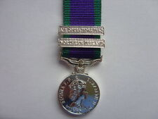 OFFICIAL MINIATURE MEDAL GSM WITH NORTHERN IRELAND & AIR OPS IRAQ CLASPS