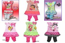 TRAUM Tunika/Kleid + Leggings SET 2-6 Jahre Disney Minnie Mouse Tinkerbell NEU