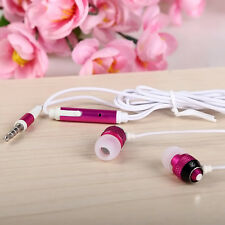 3.5mm Stereo In-ear Earphones Earbuds Handsfree Headset MiC For Cell Phone