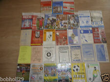 Non- League  Home Clubs starting Q-R  programmes - Choose the one(s) you want