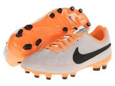 Nike JR Tiempo Genio LTR FG YOUTH Soccer Cleats 630861-008 Desert Sand/Orange