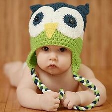 Baby Infant knitted beanie owl crochet New Born Beanie headband Hat newborn