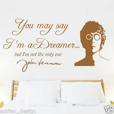 John Lennon Imagine lyrics, Wall Sticker, Transfer, DECAL any room in 18 colours