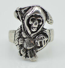 Grim Reaper Skull Ring Sons of Anarchy Stainless Steel Free USA Shipping