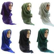 Summer StyleNew Muslim Voile Square Hijab Scarf Islamic Shawls With High Quality