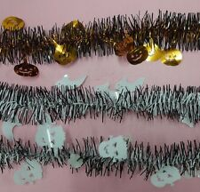 LuxGar Halloween Tinsel Garland Decoration