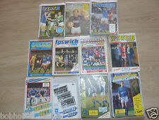 Ipswich Home Programmes   1980's. (Updated) Select from list