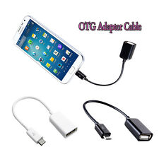 USB 2.0 A Female to Micro B Male Converter OTG Adapter Cable for Samsung LG HTC