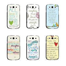 Christian Bible Verse Inspirational Quote Hard Case For Samsung Galaxys3 s4 s5