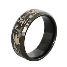 1pc Men's Black  Camouflage Ring  Soldier Camo Ring  Wedding Brand Ring