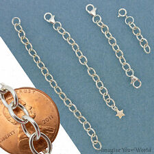 Custom STERLING SILVER .925 Extender Chain for heavy jewelry - safety adjustable