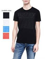 New Armani Exchange AX Mens Muscle/Slim Fit Lettered Logo Tee Shirt e6x602