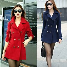New Women's Wool Trench Warm Coat for Winter Outerwear Jackets