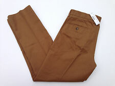 J. Crew Bowery Slim Cotton Twill Pants Melted Caramel Brown Tan Mens NWT $79