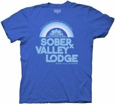 Adult Royal Blue Charlie Sheen Sober Valley Lodge Mansion California T-shirt Tee