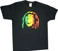 Adult Black Comedy TV Show Family Guy Peter Griffin Rasta Face T-shirt Tee