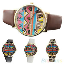 Men's Women's Chic Elegant African Totem Geometry Pattern Quartz Wrist Watch