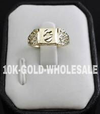 NEW 10K YELLOW GOLD INITIAL RING MENS & LADIES 10KT RING I-383