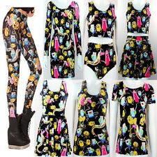 2014 New Top Digital print T-Shirt Galaxy Dress Adventure Time Legging Wholesale