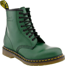 Women's Dr Martens 1460 Womens 8 Eye LaceUp Boot Green Smooth R11821313