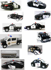 Mix Lot Police Truck Van Bus Cars Kinsmart Die-cast Scale Model Action Small Toy