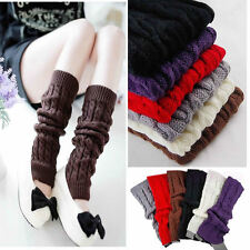 Womens Fashion Winter Knit Crochet Knitted Leg Warmers Legging Boot Cover New