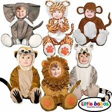 DELUXE BOYS GIRLS BABY TODDLER KIDS ANIMAL ZOO LION TIGER FANCY DRESS COSTUMES