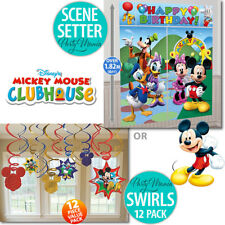 MICKEY MOUSE CLUBHOUSE BIRTHDAY PARTY SUPPLIES SCENE SETTER OR SWIRL DECORATIONS