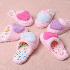 n 2014 velvet Women Anti-slip Heart Shape Slippers coral cotton Indoor Warm 03