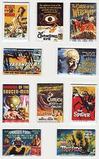 50s HORROR SCIFI MOVIE POSTER MAGNETS w/ FORBIDDEN PLANET 50 FOOT WOMAN TRIFFIDS