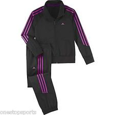 Adidas girls 3 stripe tracksuit. Jogging suit. Warm up suit 5-6Y 13-14Y & 14-15Y