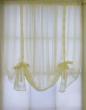 ZOE CREAM VOILE TIE BLINDS 8 DIFFERENT WIDTHS - MADE IN UK - FREE UK POSTAGE
