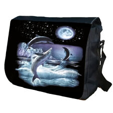 DOLPHIN Dolphins Marine Animals School College Personalised Messenger Bag