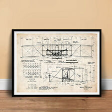 WRIGHT FLYER FIRST AIRPLANE 1903 ART PRINT POSTER BROTHERS ORVILLE WILBUR FLYING