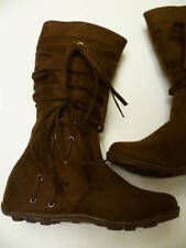 NEW BROWN SUEDE BOOTS GIRLS SHOES HOT SIZE 9-13