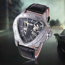 Winner Men's Luxury Brand Hot Mechanical Watch Steel Dial Leather Strap Watches