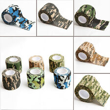5CM x 4.5M Kombat Army Camo Wrap Rifle Shooting Hunting Camouflage Stealth Tape