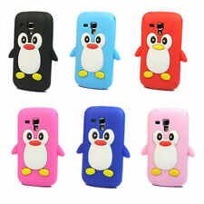 3D Penguin TPU Silicone Case Cover For Samsung Galaxy S Duos S7562/Trend S7560