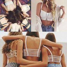 Women/Girl Sexy Padded Bra Crop Tops Vest Cut Out Shirt Summer Beach Tank