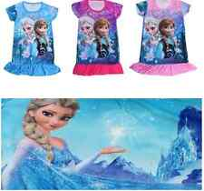 Frozen Snow Queen Elsa & Anna Romance Nightie Princess Dress Free Shipping