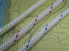 Braid on Braid Polyester rope Sizes 6,8,10,12 &14mm Colours Blue,Red & Yellow