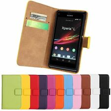 Wallet Leather Case for Sony Xperia Z / Z1 / Z2 / SP / L / M C1905 /E Dual C1605