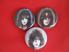 KISS Rock Band Paul Stanley Set of 3 SELECT SIZE  Pinback Buttons Badges