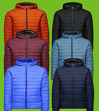 Jack and Jones Designer Mens Bubble Quilted Boom Puffer Puffa Jacket Hood Zip Up