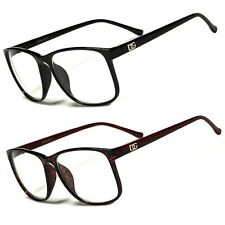 DG Large Oversized Wayfarer Glasses Clear Lens Thin Frame Nerd Glasses Designer