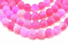 fuchsia dragon vein agate beads, agate gemstone beads - 6-14mm round beads -15in