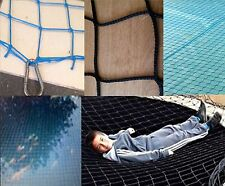 SMKN 3m × 3m pool pond CHILD SAFETY SUPER NET covers grids netting BLACK/BLUE