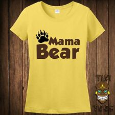 Funny Gift For New Mom Mama Bear Mommy Mother Mother's Day Tshirt Tee Shirt
